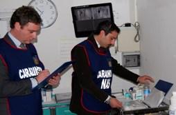 Controlli dei NAS Carabinieri in un ospedale