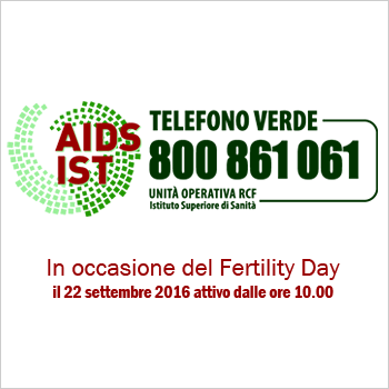 Logo Telefono Verde AIDS e IST - 800861061 (ISS-MdS)