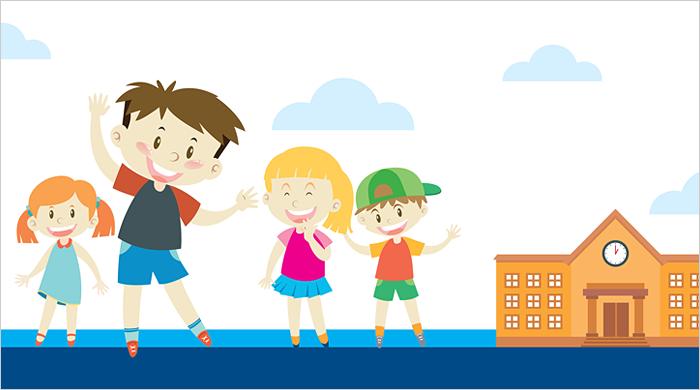 disegno bambini a scuola