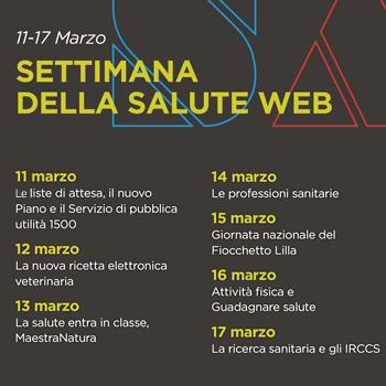 Calendario Della Salute.Al Via La Settimana Della Salute Web