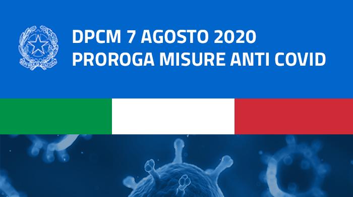 Covid-19, prorogate le misure di contenimento fino al 7 settembre 2020