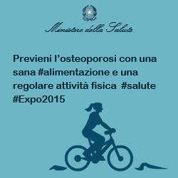 Previeni l'osteoporosi con una sana #alimentazione e una regolare attività fisica #salute #Expo2015