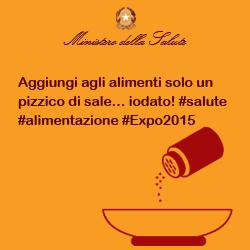 Aggiungi agli alimenti solo un pizzico di sale... iodato! #salute #alimentazione #Expo2015