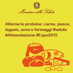 Alterna le proteine: carne, pesce, legumi, uova e formaggi #salute #alimentazione #Expo2015