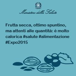 Frutta secca, ottimo spuntino, ma attenti alle quantità: è molto calorica #salute #alimentazione #Expo2015