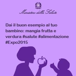 Dai il buon esempio al tuo bambino: mangia frutta e verdura #salute #alimentazione #Expo2015