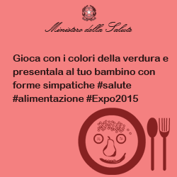 Gioca con i colori della verdura e presentala al tuo bambino con forme simpatiche #salute #alimentazione #Expo2015