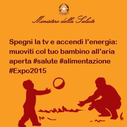 Spegni la tv e accendi l'energia: muoviti col tuo bambino all'aria aperta #salute #alimentazione #Expo2015