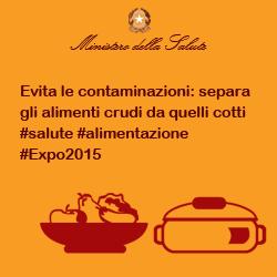 Evita le contaminazioni: separa gli alimenti crudi da quelli cotti #salute #alimentazione #Expo2015
