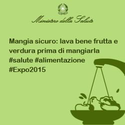 Mangia sicuro: lava bene frutta e verdura prima di mangiarla #salute #alimentazione #Expo2015