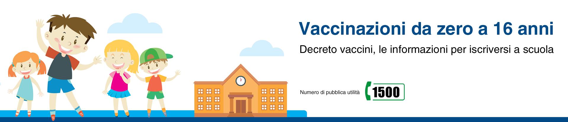 Collegamento al siti tematico Vaccinazioni. Apre una nuova pagina.