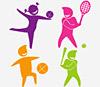 Immagine stilizzata raffigurante vari sport
