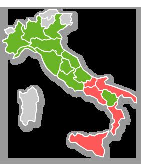 Cartina Italia Con Legenda.Monitoraggio Griglia Lea 2014 2015