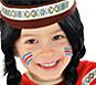 Bambina mascherata da indiana